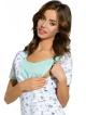koszula nocna do karmienia dzieci z modnym nadrukiem komfortowe karmienie niemowląt specjalne rozcięcia ułatwiające karmienie