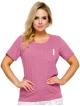 piżama damska bawełna koszulka krótki rękaw z kieszenią i spodnie jasne długie nadruk w urocze listki taro ola 2244