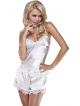 satynowa piżama damska jasna ecru z koronką komplet bielizny damskiej koszulka na regulowanych ramiączkach i krótkie spodenki