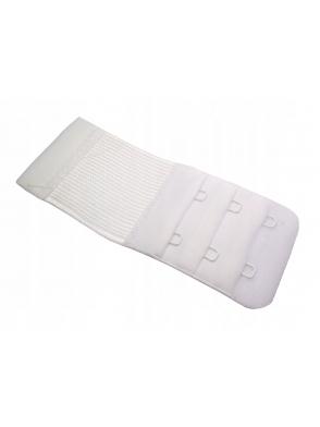 przedłużenie przedłużka biustonosza biała z gumką i haftkami regulacja w trzech rzędach