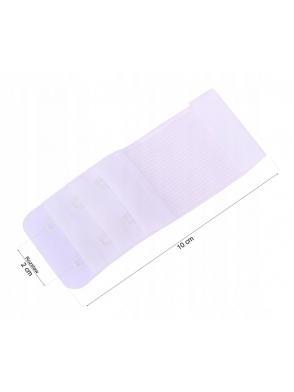 przedłużenie długości biustonosza z gumką i zapięciem na haftki zwiększa obwód biustonosza