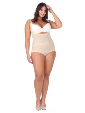 gorset body wyszczuplające damskie duże rozmiary size plus pod biust z efektem push up pełna regulacja