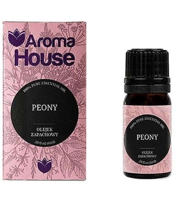 piwonia z bawełna olejek zapachowy kwiatowy z nutką zapachową bawełny aroma house