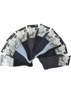 10 par wysokich skarpetek męskich bawełnianych firmy rota mix kolor 95% bawełna