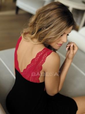 Koszulka Larisa Czarno-Czerwona (usztywniane miseczki)