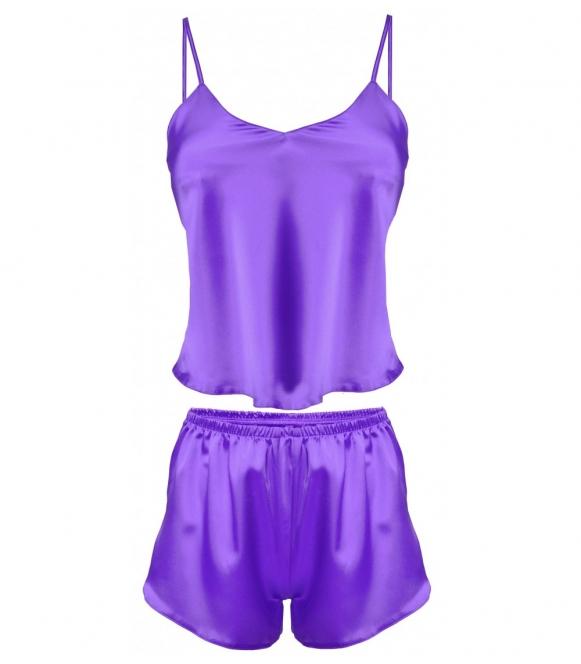 dkaren karen piżama damska komplet fioletowy