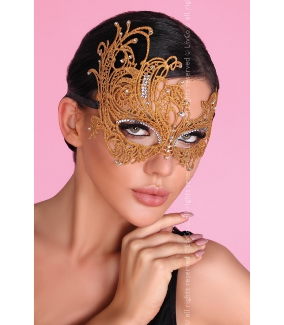 mask golden maska na twarz złota ażurowa livco corsetti