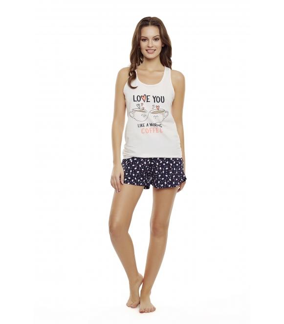 Piżama Danni 35831-03X Różowo-granatowa