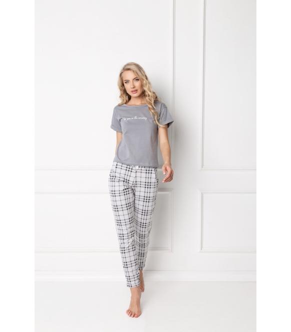Piżama Belle Long Grey