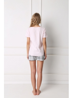 Piżama Londess Short Pink-Grey