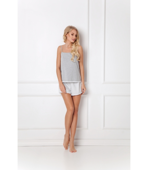Piżama Adelide Short Grey