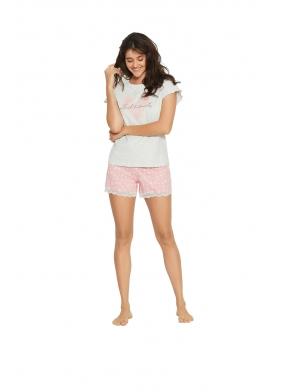 Piżama Forever 38062-90X Szaro-różowa