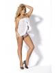 Peniuar (koszulka) Caress White PE-221 + stringi GRATIS!