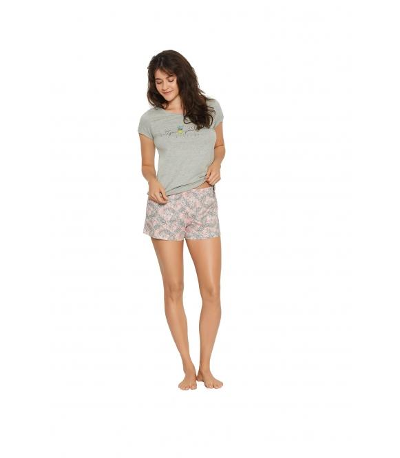 Piżama Favor 38060-90X Szaro-różowa