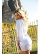 Szlafrok Adelaide Biały