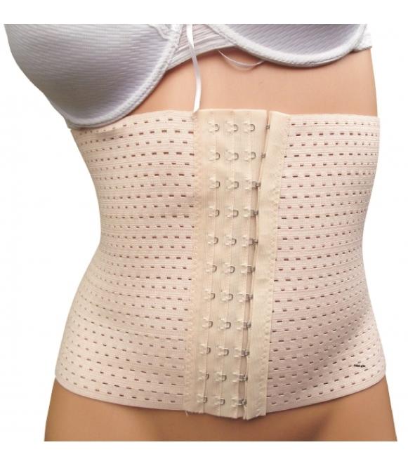 Pas wyszczuplający poporodowy modelujący zapinany na haftki z regulacja tummy trimmer