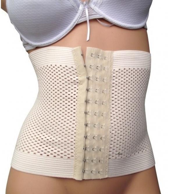 Pas wyszczuplający poporodowy z regulacją na haftki tummy trimmer oddychający