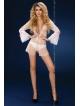 prześwitujący peniuar damski daralis biały livco corsetti