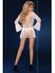 daralis biały prześwitujący peniuar szlafrok damski biały livco corsetti