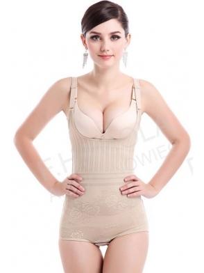body majtki damskie wyszczuplające OPTIMAL  ielizna wyszczuplająca pod biust z regulacją ramiączek i w kroku