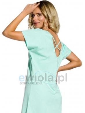 ewiola koszula nocna damska bawełniaka krótki rękaw przed kolano taro amber 2151 mięta
