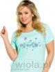 koszula nocna bawełniana taro agnieszka 938 polska krótki rękaw długość do kolana zielen