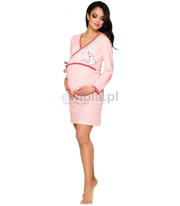 koszula nocna damska ciążowa ułatwiająca karmienie dzieci po porodzie taro asia 113 róż