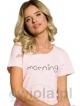 bawełniana piżama damska taro rachel 2163 rękawki krótkie spodnie rybaczki kolorowy nadruk na koszulce
