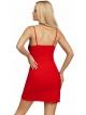 seksowna czerwona koszulka nocna na ramiączkach biustonosz z czarnej koronki o motywie kwiatowym donna patrizia red