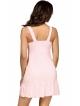 koszula nocna różowa z falbanką na wysokości uda szerokie ramiączka miseczki zdobione koronką i kokardką donna agnes pink