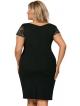 koszulka nocna plus size koronkowe ramiączka i dekolt odcięta pod biustem kolor czarny donna